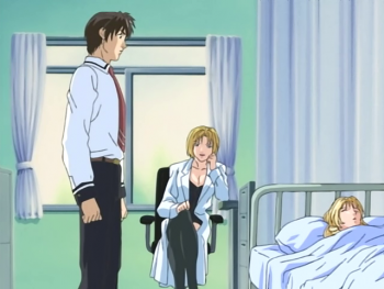 Shot S1E2 minase and kitami nurse office.png
