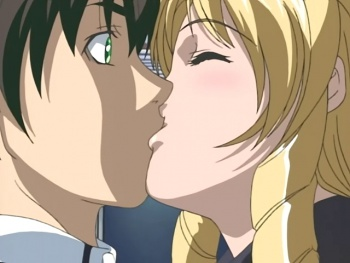 Shot S1E2 minase shiraki kiss.jpg