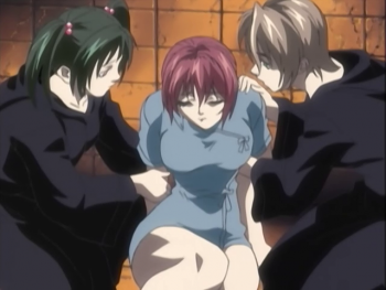 Shot S2E2 rie and saki hold takashiro.png